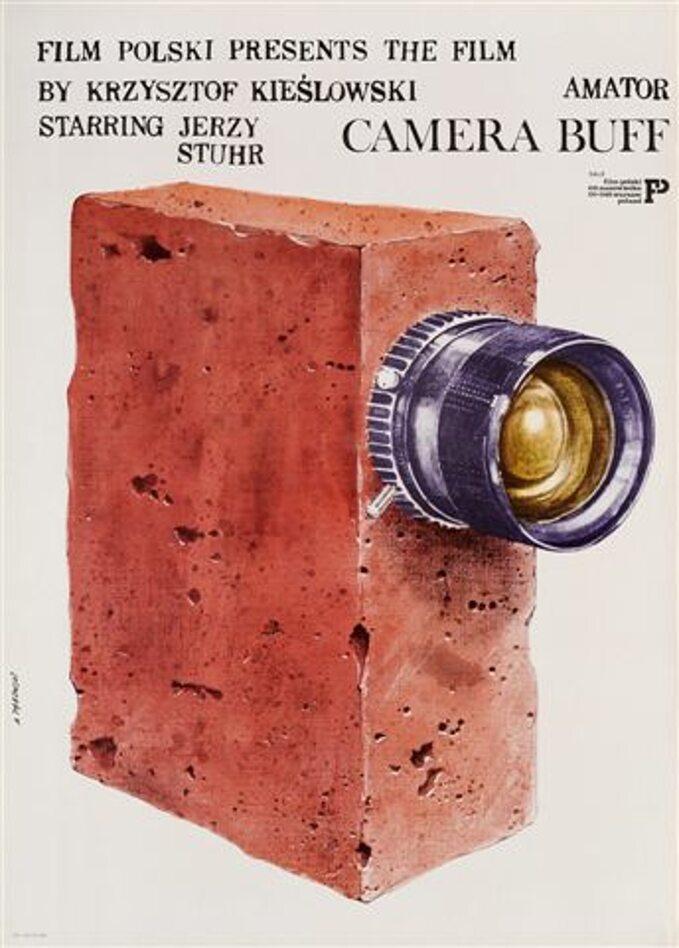 """Plakat dofilmu """"Amator"""" Krzysztofa Kieślowskiego"""