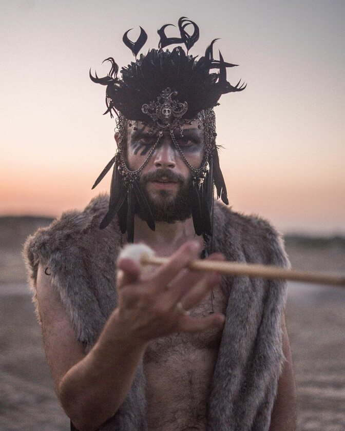 Uczestnik festiwalu Burning Man