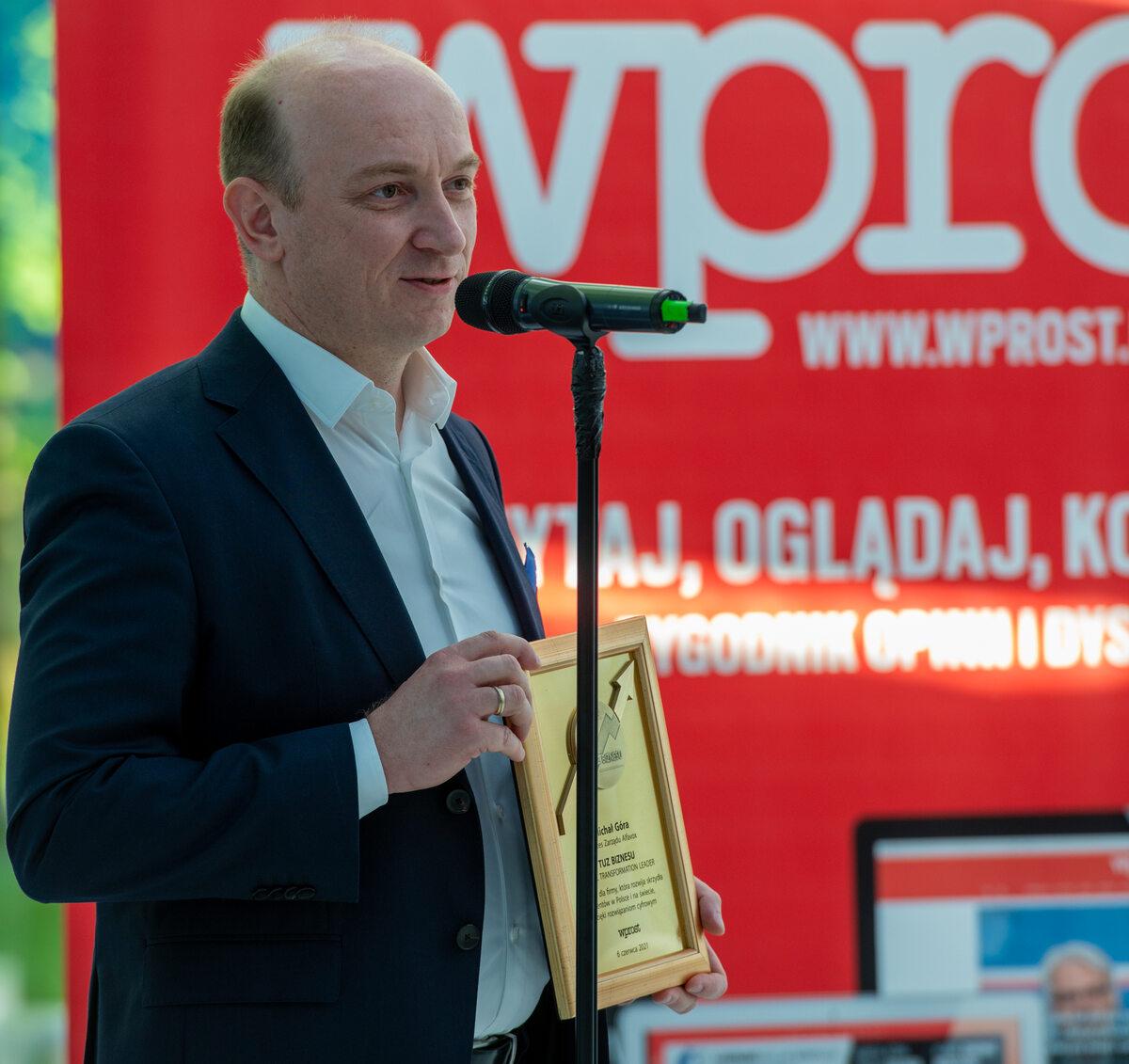 Prezes Alfavox Michał Góra