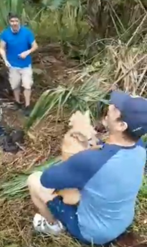Poszukiwania psa trwały kilka dni. Tak przywitał właściciela
