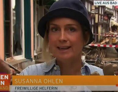 Dziennikarka miała pomagać powodzianom, ale została przyłapana. Wszystko...
