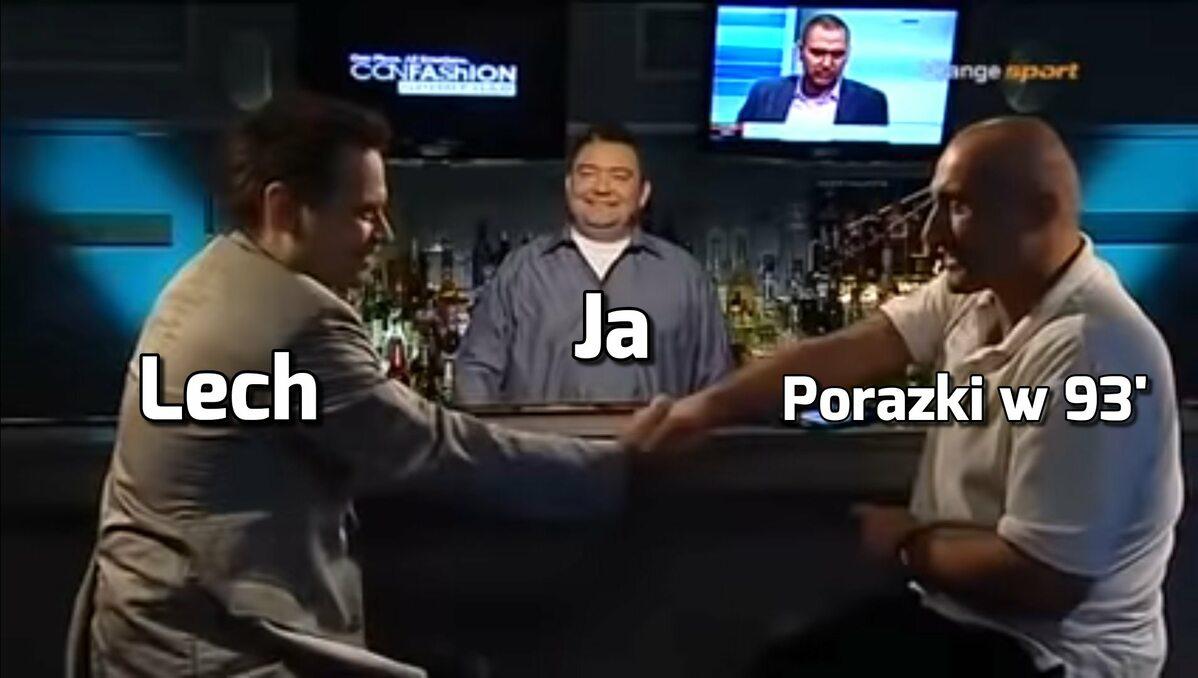 Mem po meczu Lecha Poznań ze Standardem Liege
