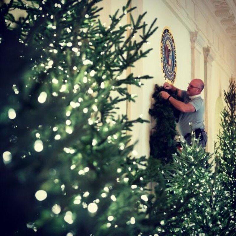 Przystrajanie Białego Domu na okres świąt Bożego Narodzenia