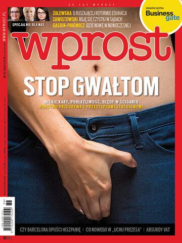 Okładka tygodnika Wprost nr 36/2017 (1801)