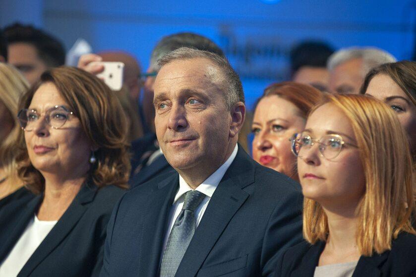 Małgorzata Kidawa-Błońska, Grzegorz Schetyna i Małgorzata Tracz
