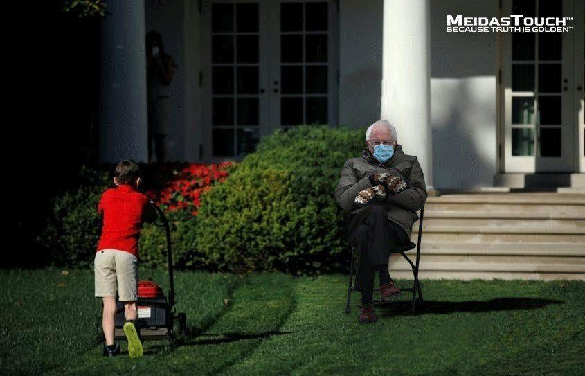 Bernie Sanders stał się bohaterem memów po inauguracji prezydentury Joe Bidena
