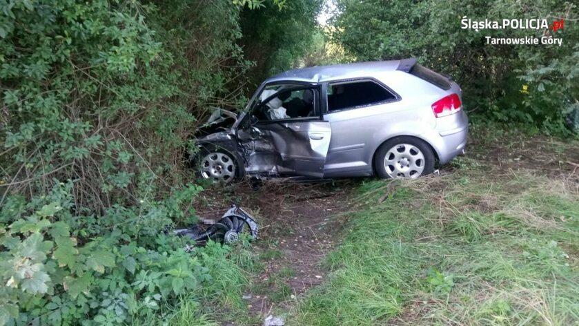 Audi sprawcy wypadku