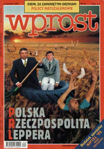 Okładka tygodnika Wprost nr 34/1999 (873)