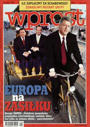 Okładka tygodnika Wprost nr 9/1999 (848)