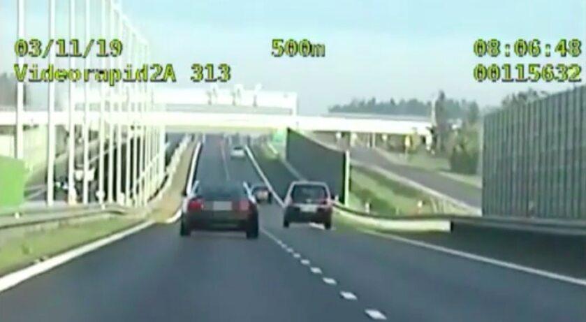 300 km/h jechał pirat trasą S7