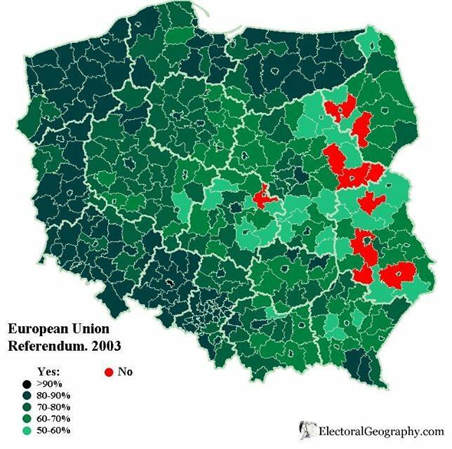 W tym roku obchodzimy dziesiątą rocznicę przystąpienia Polski do Unii Europejskiej. Trudno uwierzyć, ale w 2003 roku znalazły się miejsca, w których blisko 9 na 10 głosujących było przeciw integracji z Zachodem.