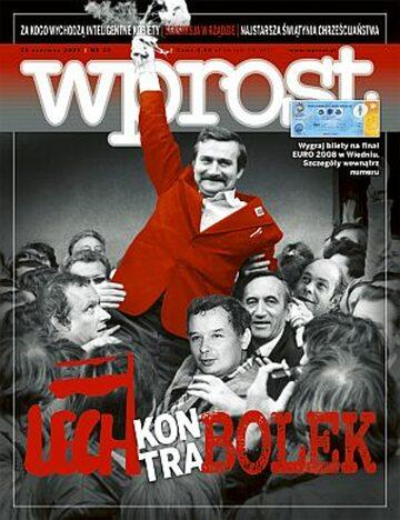 Okładka tygodnika Wprost nr 26/2008 (1331)