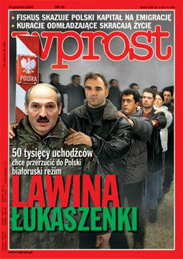 Okładka tygodnika Wprost nr 50/2002 (1046)