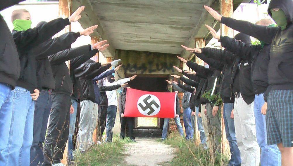 Kadr z filmu, którym chciano zastraszyć Antifę (fot.Mariusz Kowalewski/Wprost)