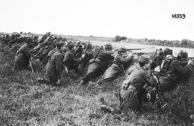 5–9 września 1914. I bitwa nad Marną. Kilkudniowa bitwa I wojny światowej   pomiędzy wojskami francusko-brytyjskimi a niemieckimi. (fot. domena publiczna)