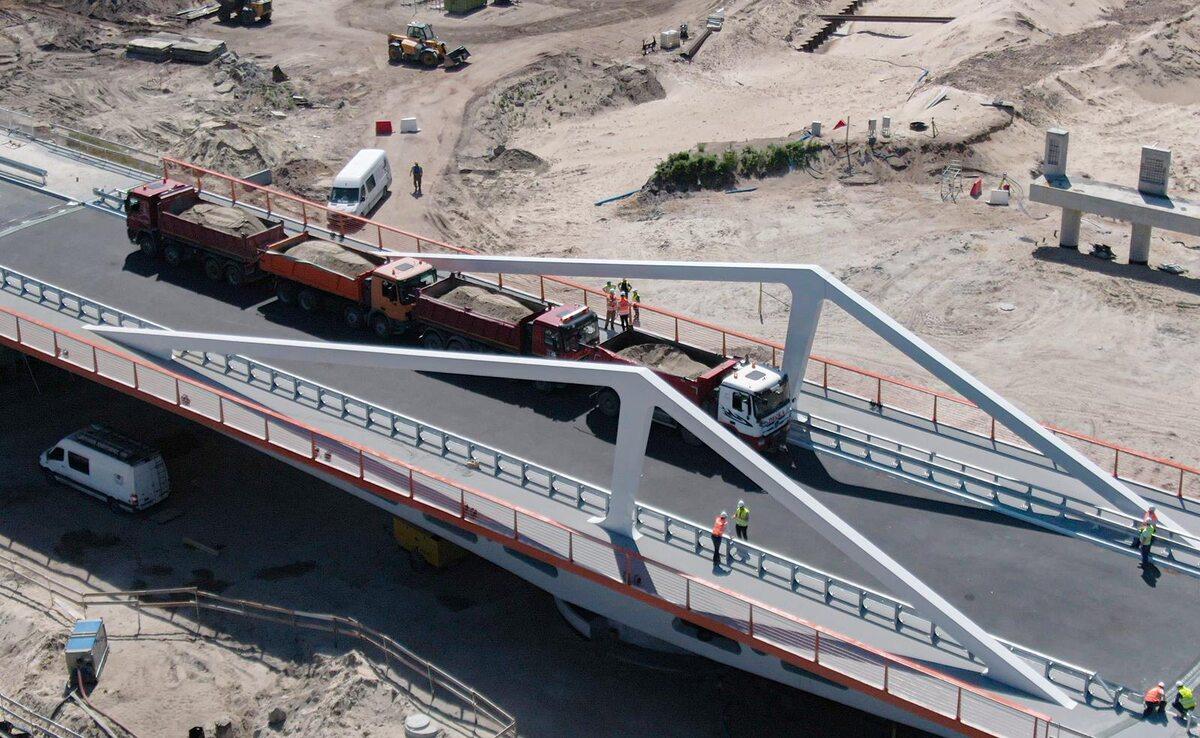 Most nad przekopem Mierzei Wiślanej