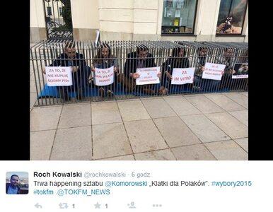 """Młodzieżówka PO uderza w Dudę. Akcja """"Klatki dla Polaków"""""""