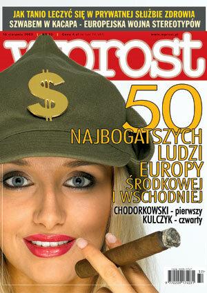 Okładka tygodnika Wprost nr 32/2003 (1080)