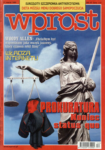 Okładka tygodnika Wprost nr 12/1999 (851)