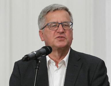 Komorowski o odezwie Kaczyńskiego: Pełna gęba patriotycznych frazesów