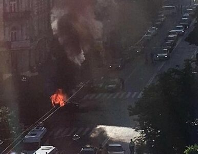 """Eksplozja samochodu w centrum Kijowa. Zginął dziennikarz """"Ukraińskiej..."""