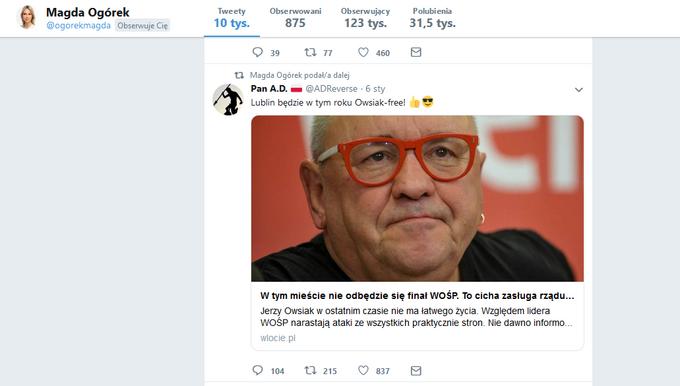 Twitter Magdaleny Ogórek