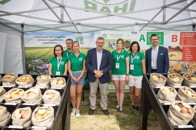 Minister rolnictwa Jan Krzysztof Ardanowski podczas XXVII Krajowych Dni Ziemniaka Potato Poland 2020 wLubkowie