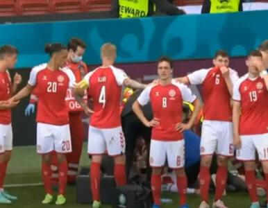 Euro 2020. Eriksen upadł, reprezentanci Danii zakryli widok. Te chwile...