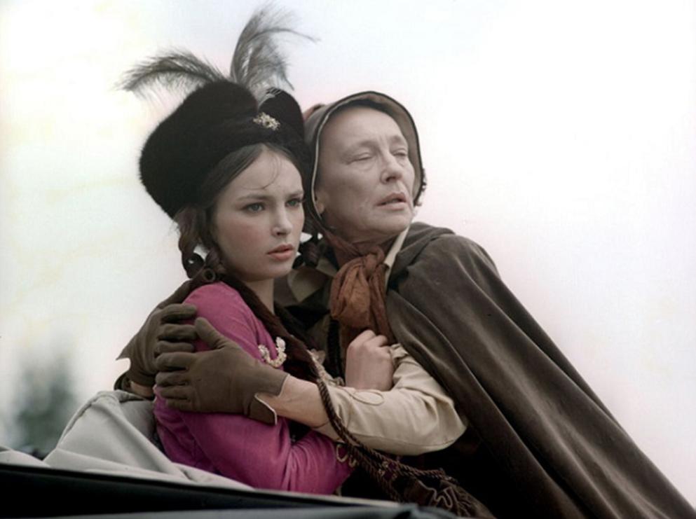 """Anna Dymna na planie """"Janosika"""" (1973)"""