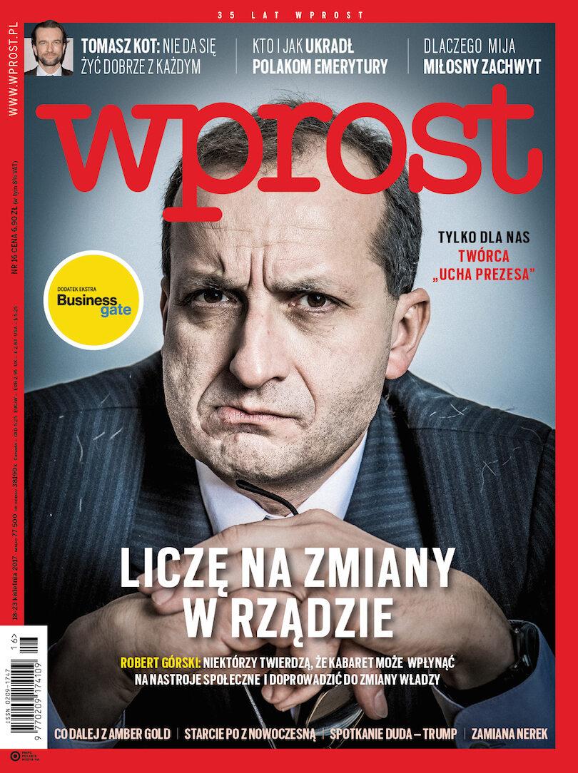 Okładka tygodnika Wprost nr 16/2017 (1783)