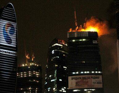 """""""Moskwa-City"""" spłonęło przez plastikową płachtę"""