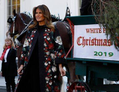 Świąteczna choinka dotarła do Białego Domu. Odebrała ją Melania Trump