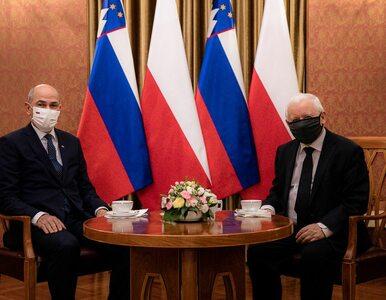 Premier Słowenii spotkał się z Jarosławem Kaczyńskim. Uwagę zwraca...