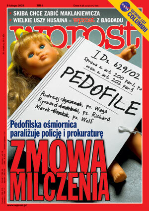 Okładka tygodnika Wprost nr 6/2003 (1054)