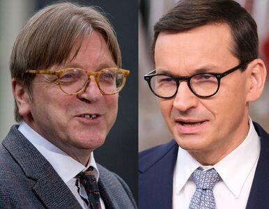 """Guy Verhofstadt po polsku uderza w Mateusza Morawieckiego. """"Cóż za..."""