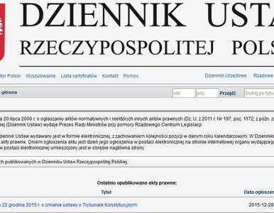 Nowelizacja ustawy o Trybunale Konstytucyjnym opublikowana w Dzienniku...