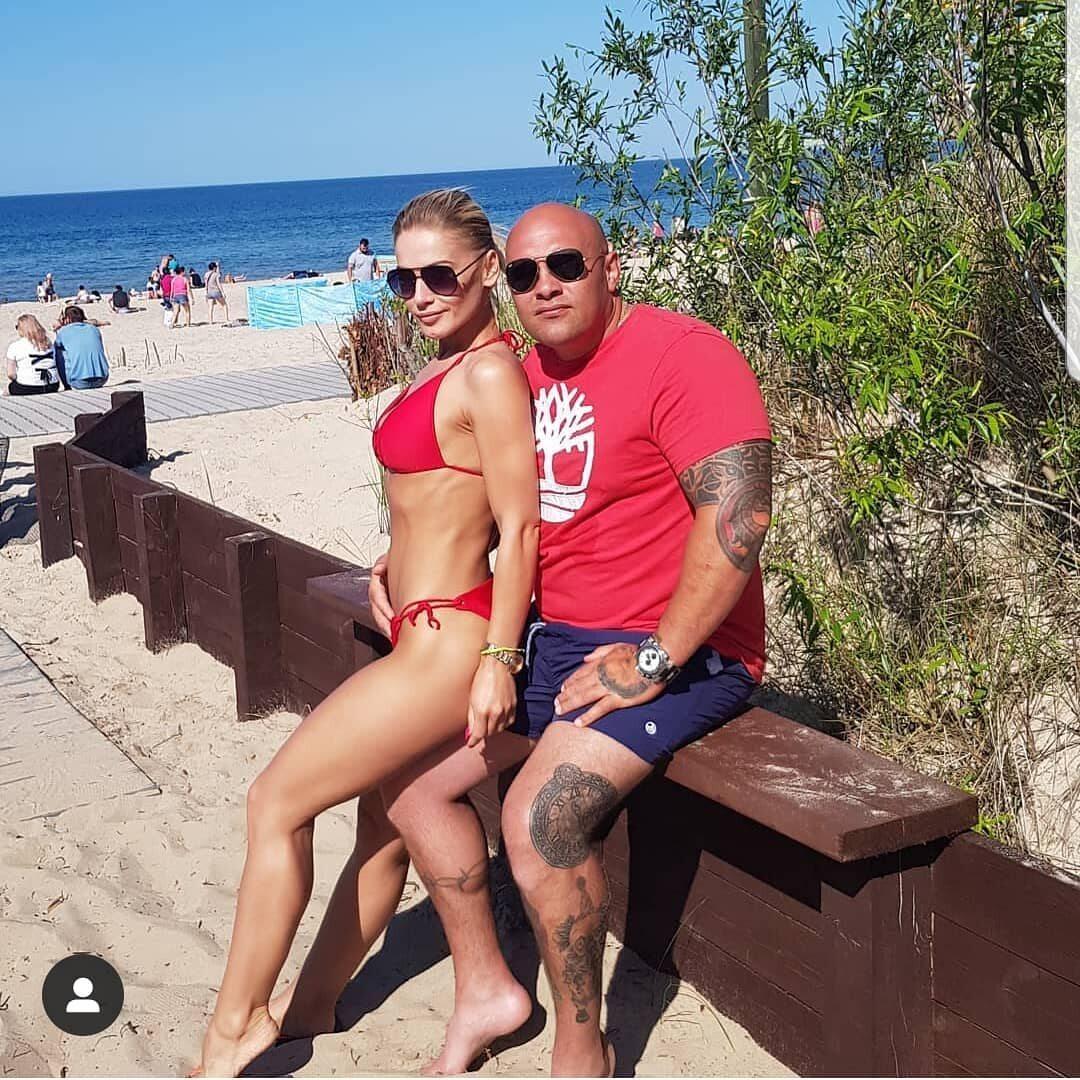 Dominik Abus z partnerką
