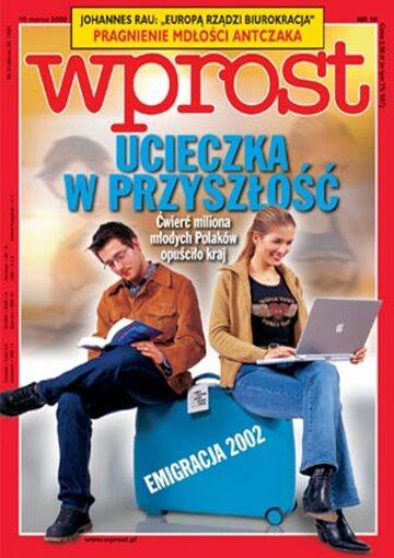 Okładka tygodnika Wprost nr 10/2002 (1006)
