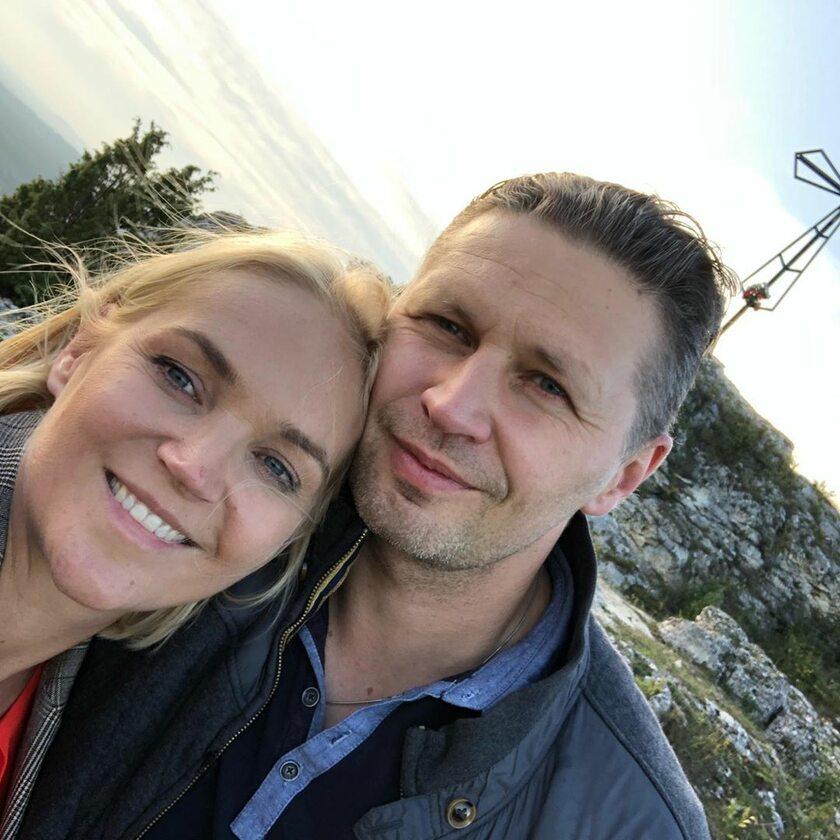 Dominika Chorosińska z mężem