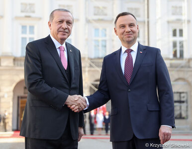 Prezydent Turcji z wizytą w Polsce. Spotkał się z Andrzejem Dudą
