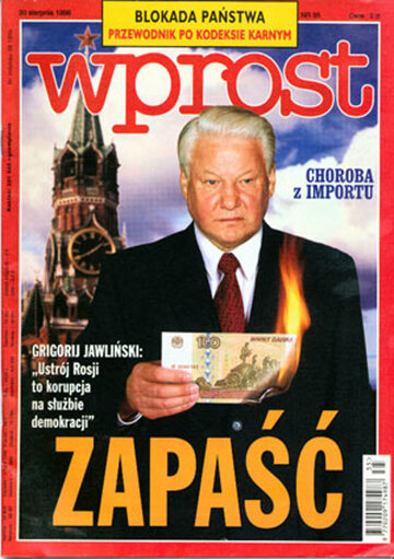 Okładka tygodnika Wprost nr 35/1998 (822)