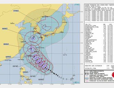 Supertajfun Kong-rey zagraża Japonii. Idzie po śladach tajfunu Trami