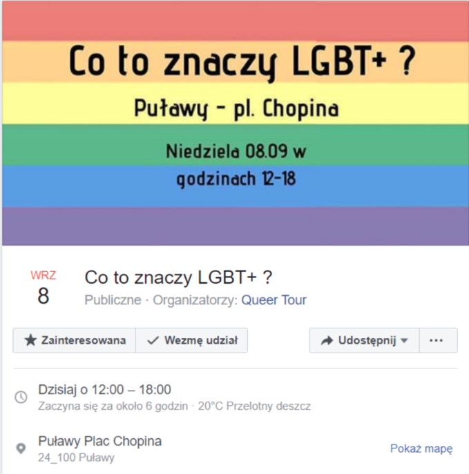 Wydarzenie naFacebooku