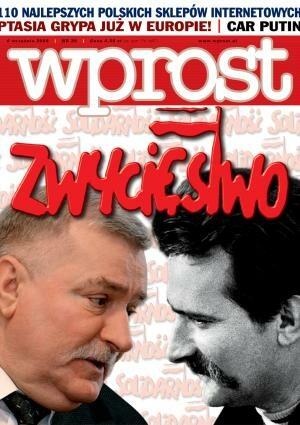 Okładka tygodnika Wprost nr 35/2005 (1187)