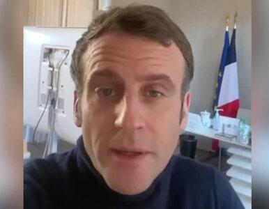 Emmanuel Macron ma koronawirusa. Nagrał wideo i przekazał, jak się czuje