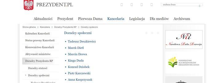 Archiwalna wersja strony prezydent.pl