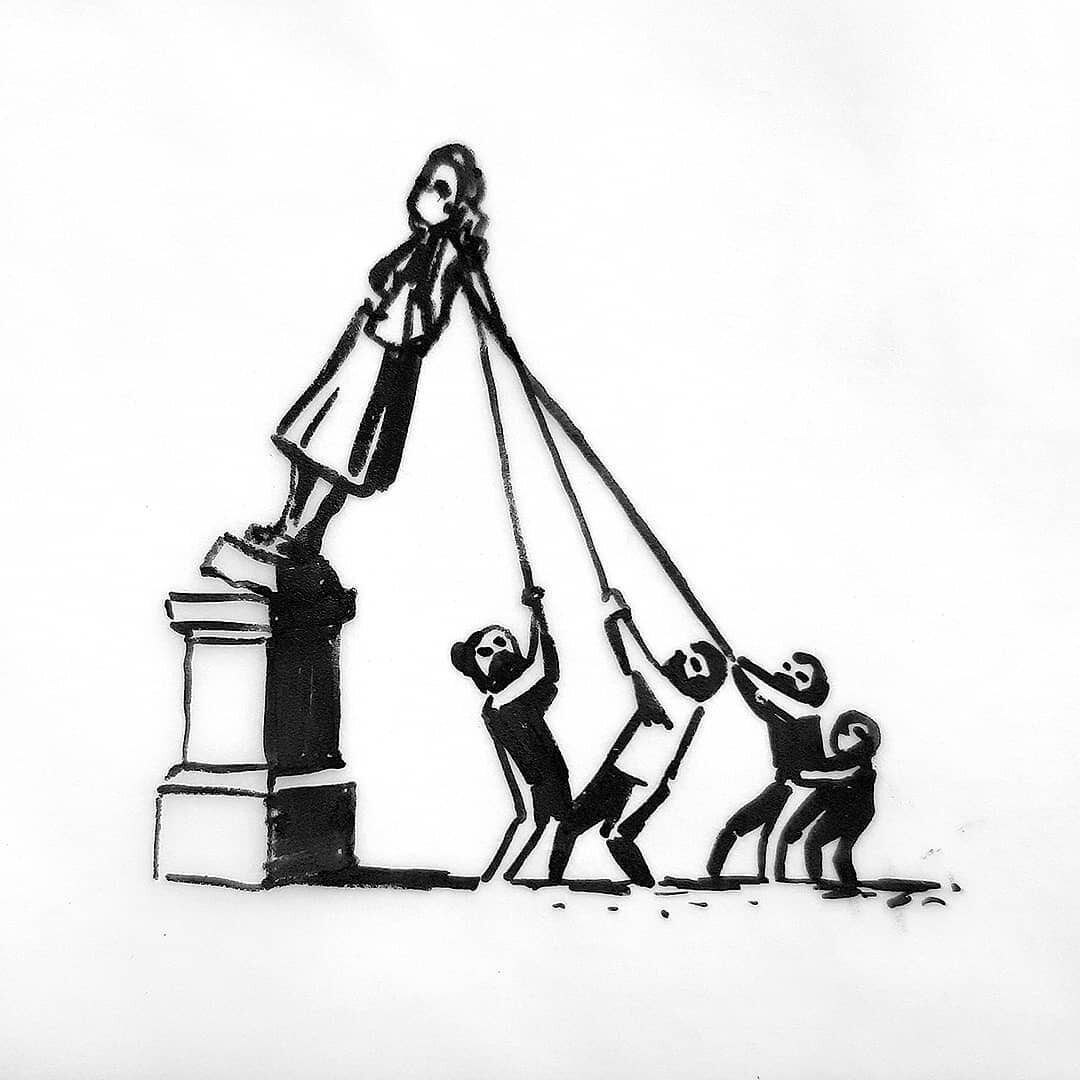 Jedna z prac Banksy'ego