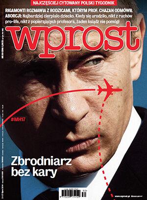 Okładka tygodnika Wprost nr 30/2014 (1638)