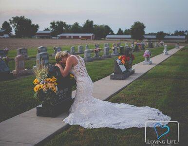 Narzeczony zmarł rok temu. Przyszła na jego grób w sukni ślubnej