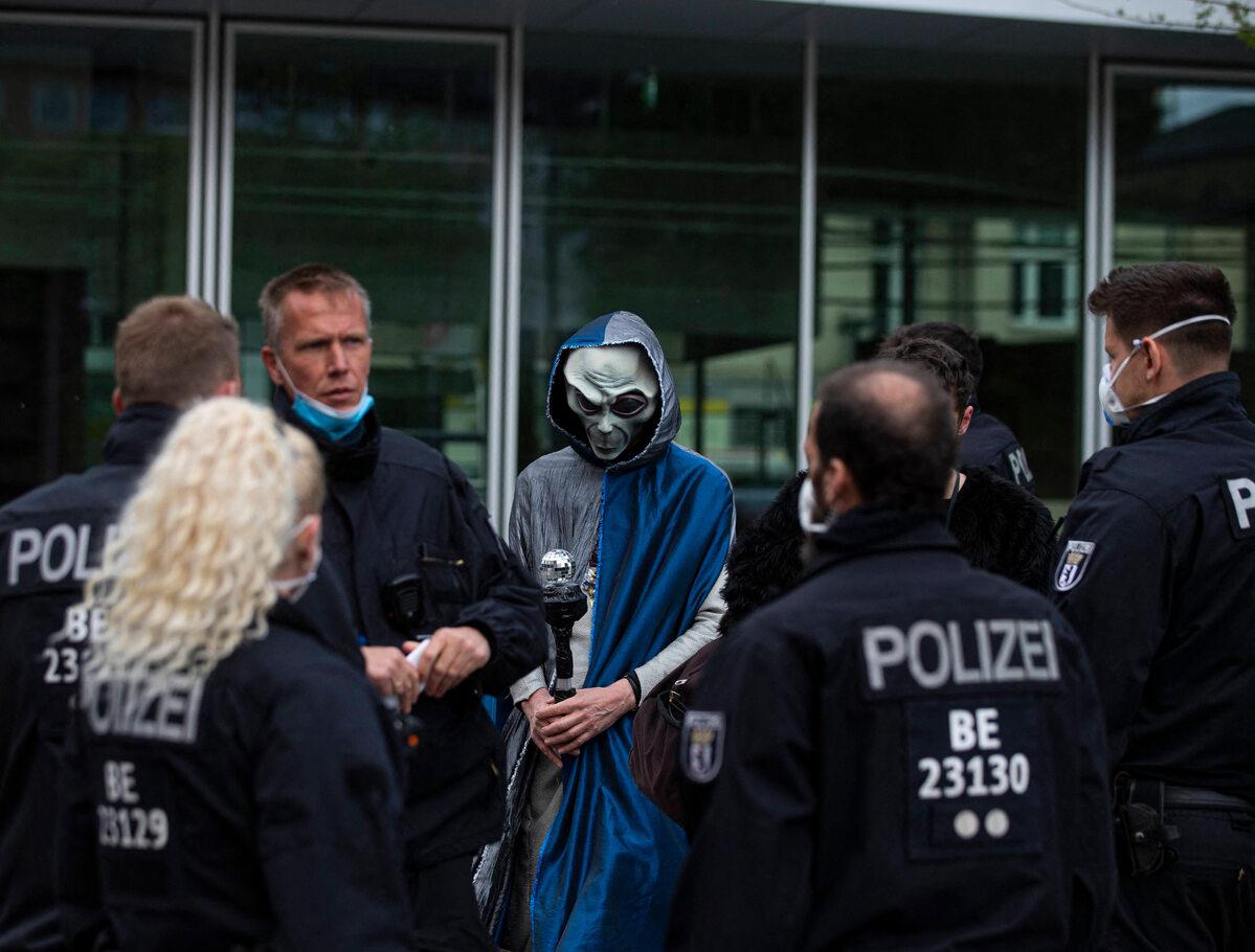 Protest w Berlinie (16 maja)